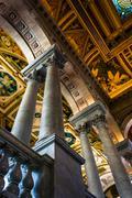The interior of the library of congress, in washington, dc. Stock Photos