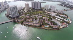 Island Avenue Miami Beach Stock Footage