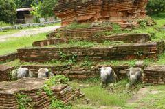 Weangkumkam historic site in chiangmai city,thailand - stock photo