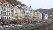 Stock Video Footage of View city Karlovy Vary beautiful autumn