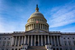 the united states capitol, in washington, dc. - stock photo