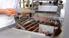 The art of chocolate making Stock Footage