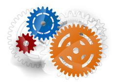 Cogwheels Stock Illustration