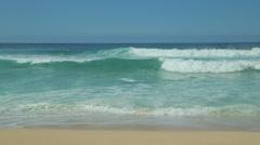 Ocean big wave tide shore break - stock footage