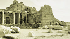 panorama of ancient greek ruins - stock footage
