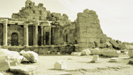Stock Video Footage of panorama of ancient greek ruins