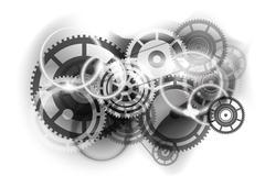 Cogwheel industry Stock Illustration