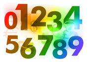 Stock Illustration of numbers