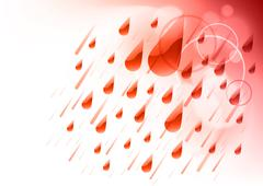 Stock Illustration of red rain