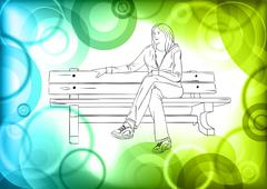 Stock Illustration of relaxing