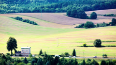 Panorama of the european landscape Stock Footage
