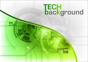 Stock Illustration of tech background