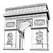 arch of triumph - stock illustration