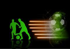 Stock Illustration of green soccer