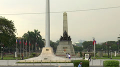 Rizal park time lapse closer view Stock Footage