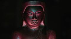Zen Buddha religious statue Stock Footage