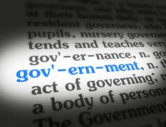 Dictionary government - stock illustration