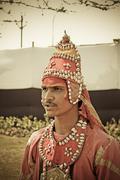 gondhali performing gondhali dancing during the procession of goddess amba de - stock photo