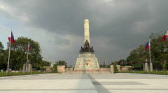 Jose rizal monument Stock Footage