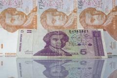 money from croatia - stock photo