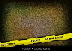 police tape - stock illustration