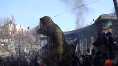 Ukraine, opposition to Hrushevskoho Kiev Stock Footage