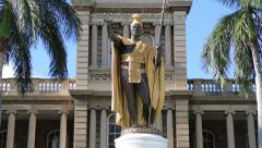 Kamehameha palace in Honolulu Hawaii Stock Footage