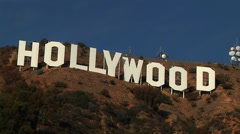 Hollywood Sign Los Angeles Close Shot - stock footage