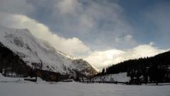 Snowy Alps Mountains Timelapse Stock Footage