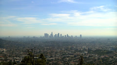 Los Angeles Skyline Day Stock Footage