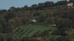 Italian police helicopter, near Rome, Italy Stock Footage