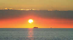 Stunning sunset over Marmara sea Stock Footage