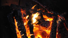 A Crackling Campfire Stock Footage