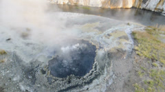 A Bubbling Geyser in Yellowstone National Park - stock footage
