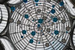 art nouveau dome in naples - stock photo