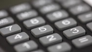 Stock Video Footage of calculator closeup