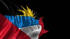 Flag of Antigua Stock Footage
