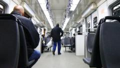 Suburban train wagon Stock Footage
