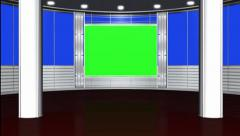 Virtual studio background - green screen Stock Footage