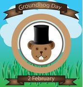 groundhog day - stock illustration