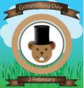 Stock Illustration of groundhog day