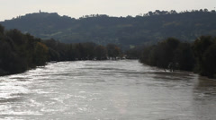 Tiber river north of Rome - stock footage
