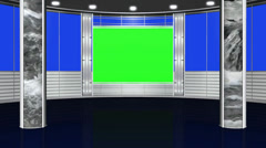 virtual studio background - green blue screen - stock footage
