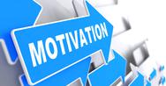 Stock Illustration of Motivation on Blue Arrow.