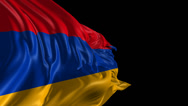 Stock Video Footage of Flag of Armenia