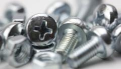 Screw nuts and bolts Stock Footage