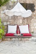 Stock Photo of outdoor seating