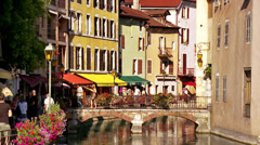Tourists (4) - Annecy France Stock Footage