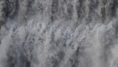 Waterfall: wall of water falling in slow motion Stock Footage