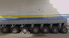 HD Antonov 225 Mriya airplane wheels - stock footage